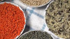 Crop of Cereals and Legumes Stock Footage