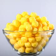 corn snack with cheese flavor - stock photo