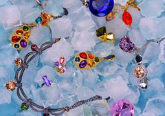 Jewels at ice - stock photo