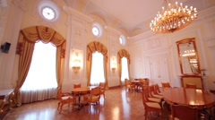 Living room Interior in Petroff Palace, Moscow. Stock Footage