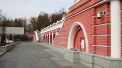 Yard of Petroff Palace in Moscow, Russia. Stock Footage