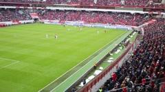 Playing field at stadium Locomotive (Locomotive - Spartak ) Stock Footage