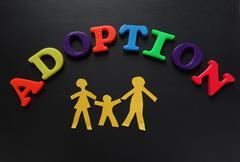 Adoption letters Stock Photos
