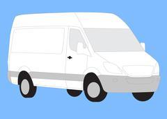 Stock Photo of Delivery white van