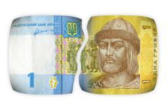 Financial crisis in Ukraine.  Broken money - Ukrainian hryvnia Kuvituskuvat