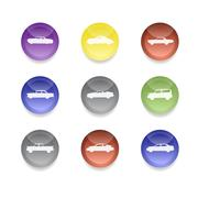 Color car icons Stock Illustration