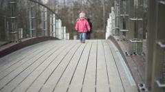 Child walking Stock Footage