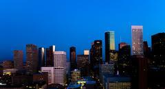 Houston at Dawn Stock Photos