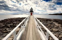 Marshall point lighthouse - stock photo