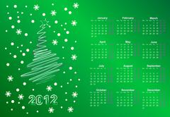 Stock Illustration of calendar to a new 2012 year