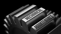 Mechanical Maintenance on the Metal Gears Stock Illustration