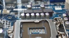 motherboard Slide - stock footage