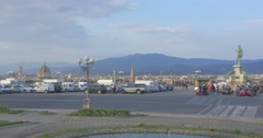 FLORENCE PIAZZALE MICHELANGELO Stock Footage