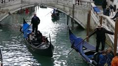 Gondola ride in Venice. Stock Footage