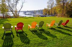 Lawn chairs - stock photo