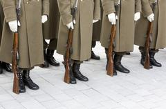 Bulgarian troopers in formation Stock Photos