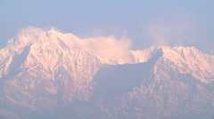 Annapurna Range at Pokhara in Nepal Stock Footage
