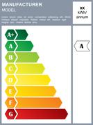 Energy efficiency rating label - stock illustration