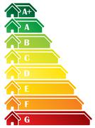 Energy class label design Stock Illustration