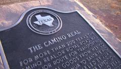 El Camino Real Marker Stock Footage