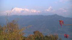 Annapurna Range and the Phewa Lake at Pokhara in Nepal - stock footage