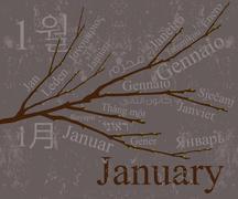 2009 Calendar - stock illustration