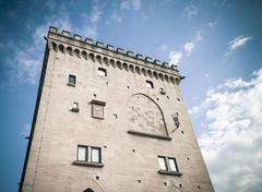 Stock Photo of San-Marino Old Town Center Cityscape