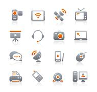 Communication Icons // Graphite Series - stock illustration