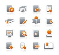 Book Icons // Graphite Series Stock Illustration