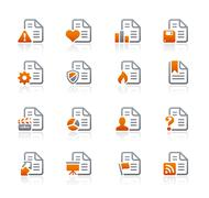 Documents Icons // Graphite Series Piirros