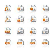 Documents Icons // Graphite Series Stock Illustration