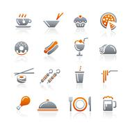 Food Icons // Graphite Series Stock Illustration