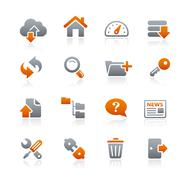 FTP & Hosting Icons // Graphite Series Stock Illustration