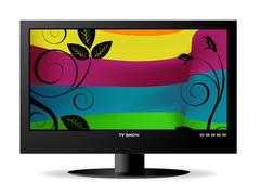Widescreen lcd monitor Stock Illustration