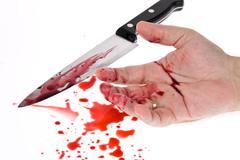 Knife with blood. crime. Kuvituskuvat
