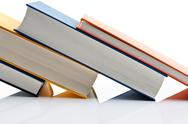 Books on white background Stock Photos