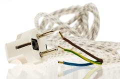 a power cable with plug - stock photo