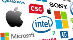 Tech Brands Logo Loop Stock Footage