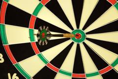 darts with dart - stock photo