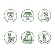 Ecology icons - stock illustration