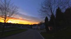Cruising - Driving Shot - Sunset - Part 7 of 7 Stock Footage