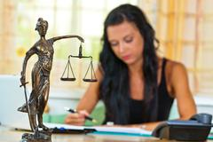 attorney at law and justice - stock photo