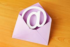 envelope with e-mail sign - stock photo