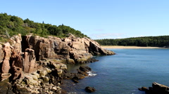 Acadia National Park Cliffs Stock Footage
