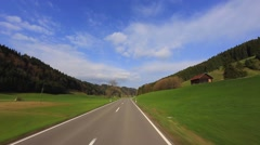 Driving Shot - Sunny Valley -  Part 2 of 2 - stock footage