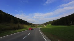 Driving Shot - Sunny Valley - Part 1 of 2 Stock Footage
