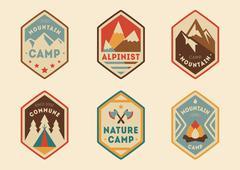 Mountain vintage labels, badges Piirros
