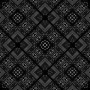Black and White Tribal Geometric Pattern - stock illustration