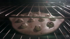 Chocolate Chip Cookies Cooking Timelapse Stock Footage