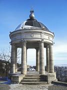 Aeolus harp in wintertime. Pyatigorsk landmarks and monuments Stock Photos